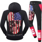 new philipp plein 2017 long tracksuit skull usa flag