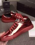 philipp plein slip-on sneakers stud embossed glossy rouge