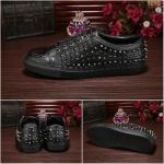 philipp plein slip-on sneakers stud embossed rivoli noir