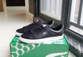 puma shoes women court point vulc running leather black