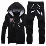 ralph lauren grils tracksuit survetement noir usa flag