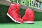 sportswear nike montantes air revolution sky baskets crocodile red