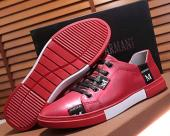 armani exchange chaussures online uk  fashion cowhide skateboard bottom rouge