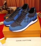 bas prix shoes louis vuitton blue grid