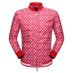 blousons supreme louis vuitton pour homme zipper cardigan rouge