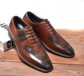 chaussure bateau hermes business affairs leather shoes brown