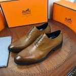 chaussure bateau hermes imported cattle skin frenulum brown