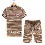 gucci hommes pants shorts and t-shirt unisex brown