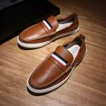 man gucci chaussures habillees classiques cuir leathe brown