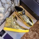 man philipp plein chaussures france gold patent leather