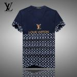 new arrival louis vuitton t-shirts sport half blue