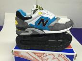 new balance running shoes man gray blue