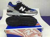 new balance running shoes man silver blue sapphire