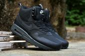 nike 87 air max 1 sneakerboot pas cher night black