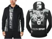 pull-over philipp plein sweat jacket army green tiger