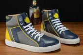 shoes dsquared2 junior leather high top bleu