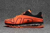 chaussures jogging course nike air max plus flair orange noir