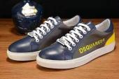 chaussures pas cher dsquared2 leather bleu