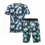 short survetement gucci pattern flower balck