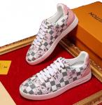 sneakers louis vuitton chaussures de dentelle blanc grid flower