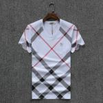 solde t-shirt burberry brit col-v grid