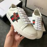 women gucci chaussures blanches chaussures de sport cowhide lightning