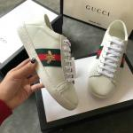 women gucci chaussures blanches chaussures de sport cowhide little bee ribbon white