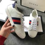 women gucci chaussures blanches chaussures de sport cowhide ribbon blanc