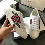 women gucci chaussures blanches chaussures de sport cowhide snakes