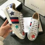 women gucci chaussures blanches chaussures de sport five stars of cowhide silver