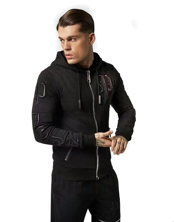 sweat philipp plein cotton pp samurai zipper