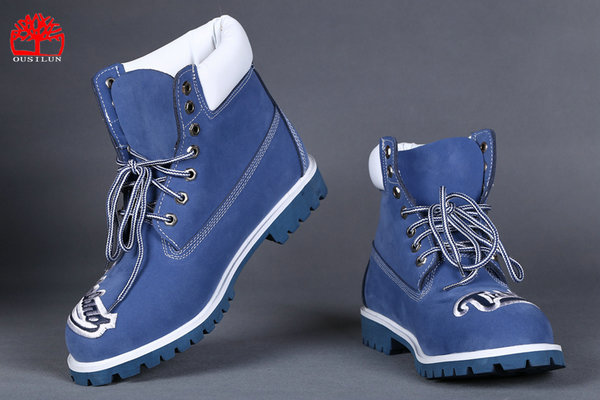 timberland chaussures marque exterieure broderie blue